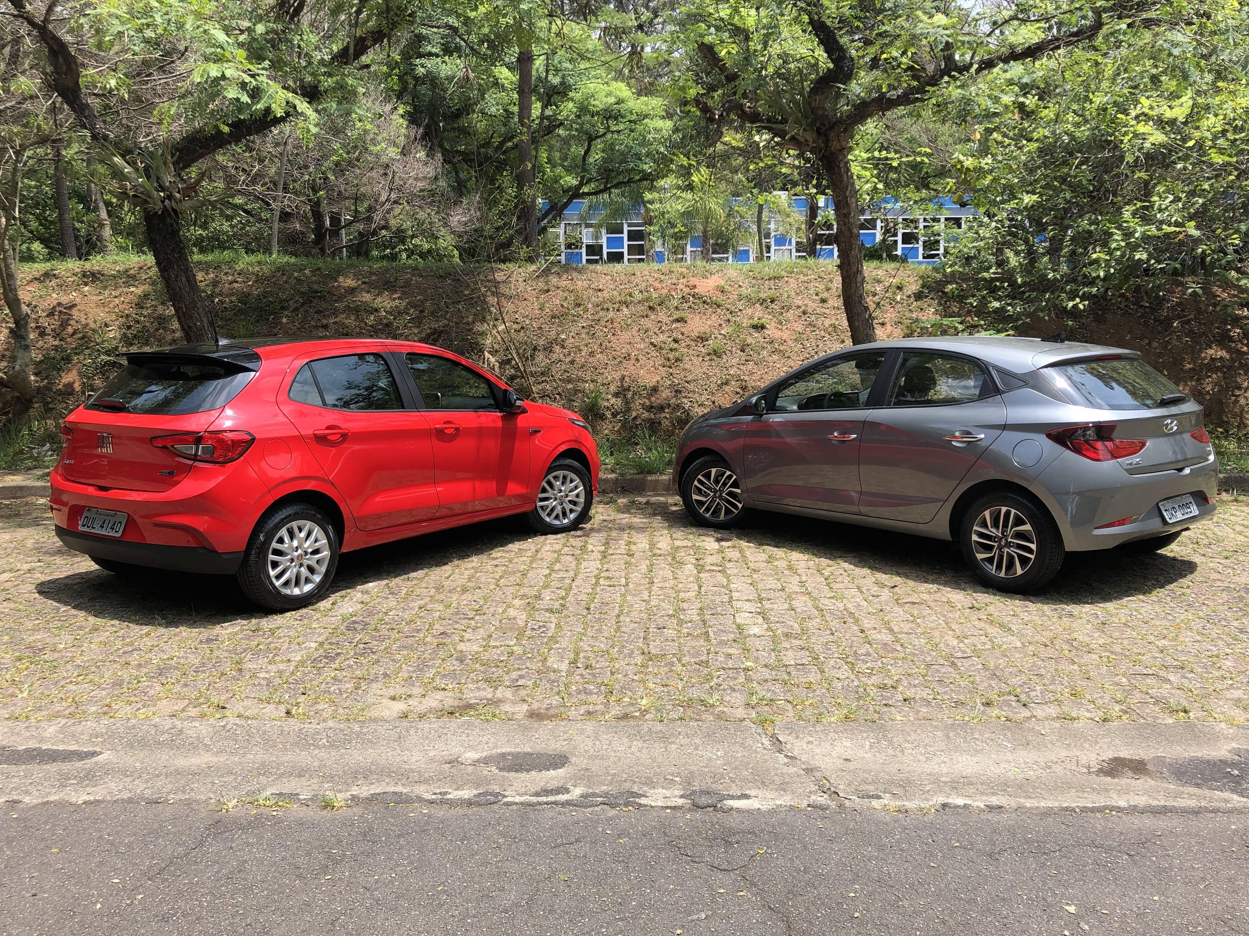 Hyundai HB20 x Fiat Argo. Foto: Cauê Lira/iG Carros