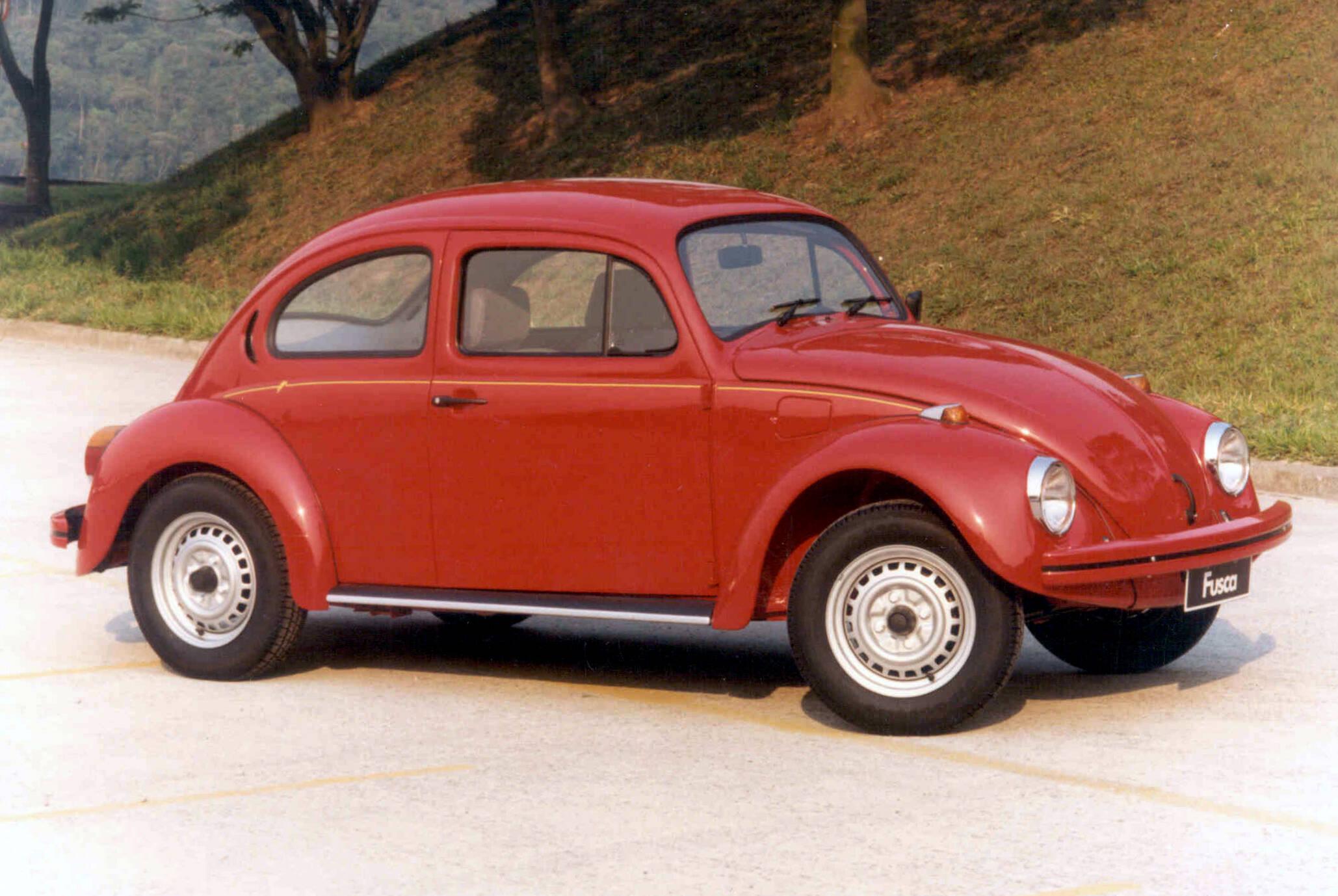 VW Fusca de 1995, antes de deixar de ser feito definitivamente, no ano seguinte. Foto: Divulgação