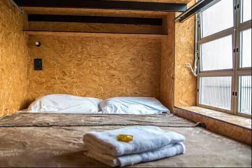 Acomodações do hotel-cápsula EcoBox Hostel, em Florianópolis. Foto: Reprodução