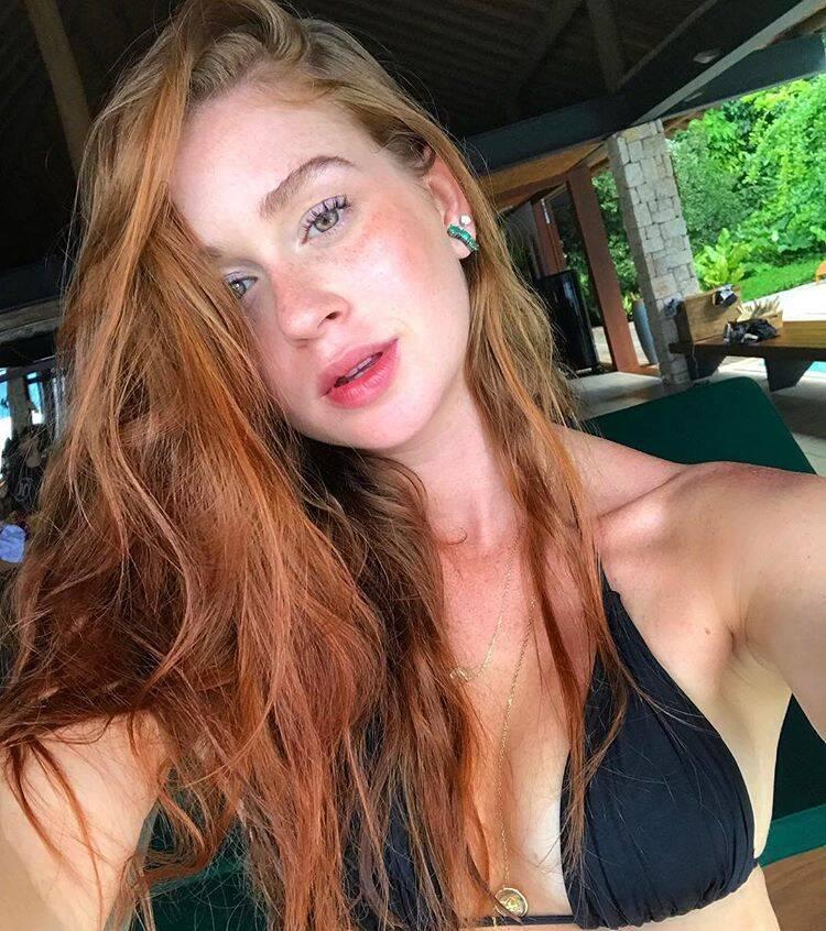 Marina Ruy Barbosa de biquíni e sem make mostrando toda sua beleza e sensualidade natural. Foto: Reprodução/Instagram