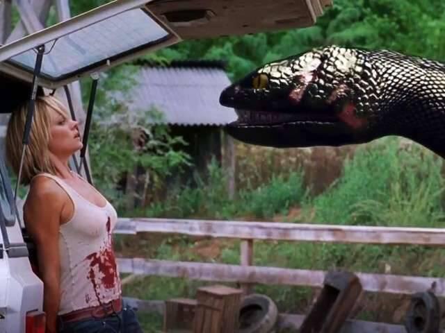 """Não precisa ter medo de visitar a Floresta Amazônica! As cobras usadas em """"Anaconda"""" são robôs. Foto: Reprodução"""