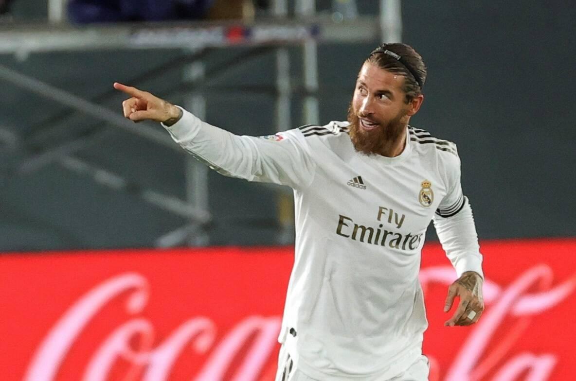 Sergio Ramos marcou e deu a vitória para o Real sobre o Getafe. Foto: Reprodução/Twitter La Liga