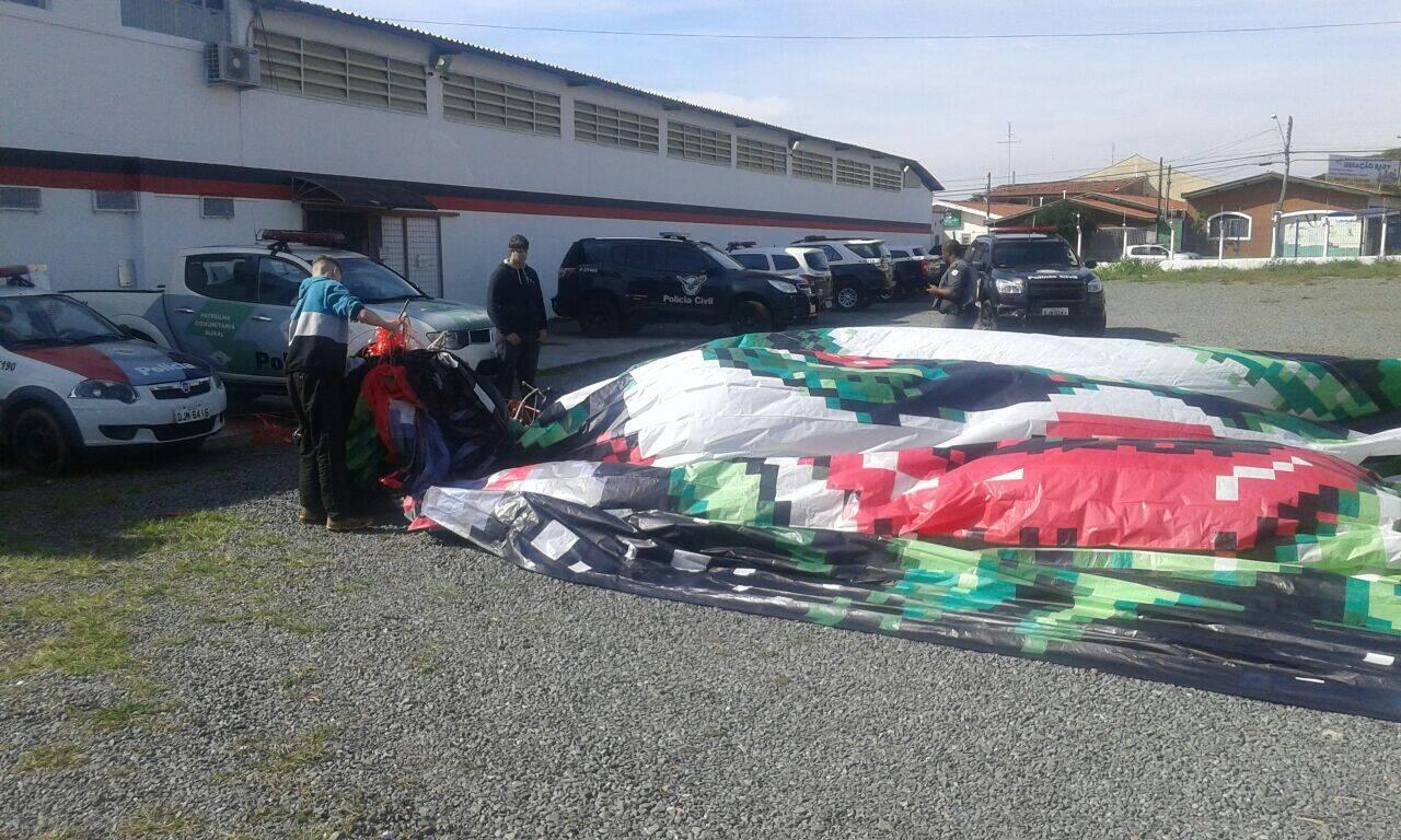Material apreendido pelos Policiais após Operação Balão em Campinas. Foto: Divulgação/Polícia Militar Ambiental