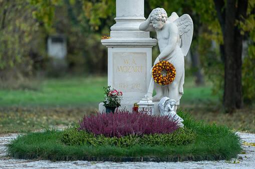 O túmulo de Mozart, localizado no St. Marx Cemetery. Foto: Reprodução/istock