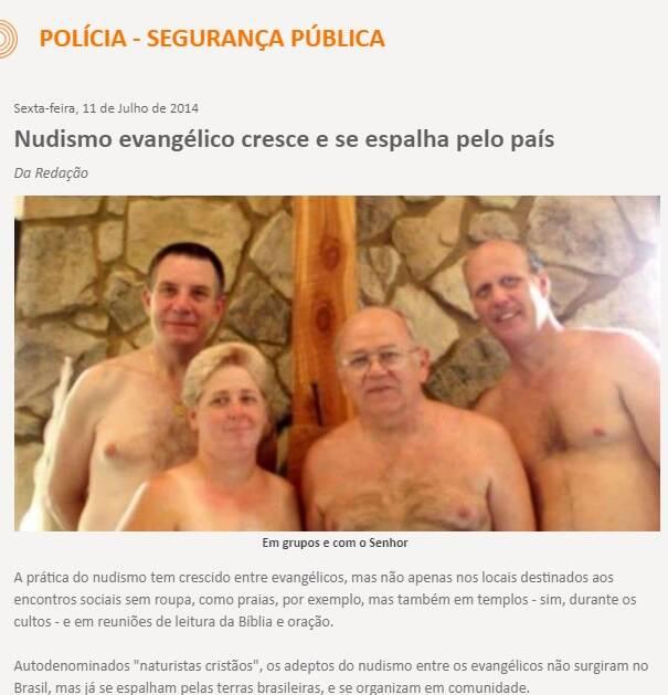 Nome de Estevão Prestes é sempre usado como fonte para as matérias de nudismo evangélico. Foto: Reprodução