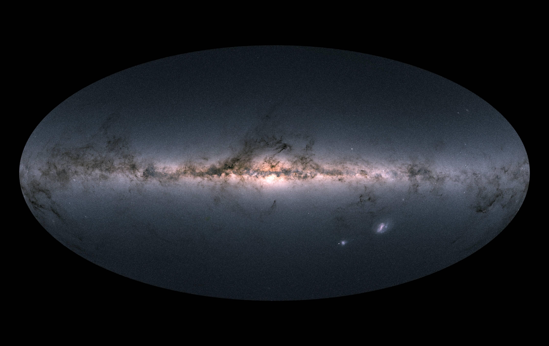 Utilizando um satélite espacial, astrônomos mediram com precisão inédita a cor e posição de mais de um bilhão de objetos no céu. Isso tem um impacto incalculável na nossa capacidade de entender a formação da nossa própria galáxia, a Via Láctea. Foto: ESA/Gaia/DPAC