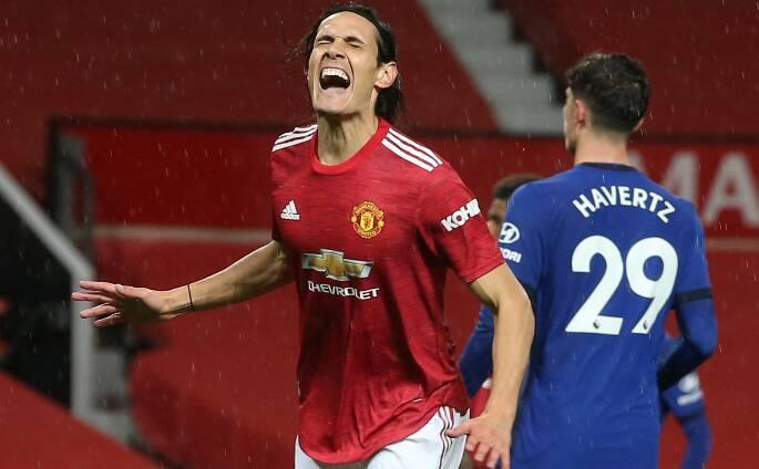 Cavani não agradou no Manchester e pode estar de saída. Foto: Divulgação / Manchester United