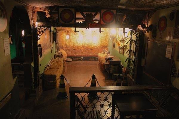 Área dedicada à prática de arco e flecha. Foto: Divulgação