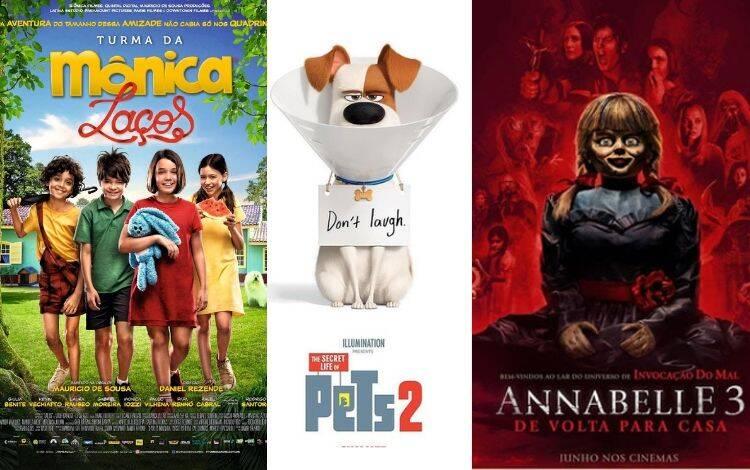 """Em julho, além de """"Toy Story"""", mais filmes chegaram aos cinemas. Na quinta-feira (27) foi a vez de """"Pets – A Vida Secreta dos Bichos 2"""", """"Turma da Mônica – Laços"""" e """"Annabelle 3: De Volta para Casa"""" estrearem nos cinemas e já com bastante sucesso. Foto: Divulgação"""