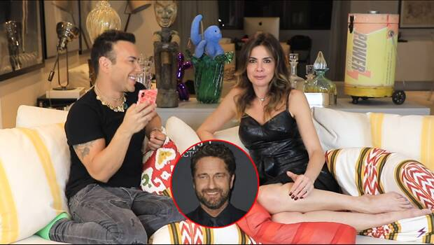 """A semana também foi de entrevista com Luciana Gimenez. Na quarta (08), a apresentadora deu a entender que á beijou o ator Gerard Butler. Além disso, ela revelou outros nomes que gostaria de """"pegar"""". Foto: Reprodução / YouTube"""