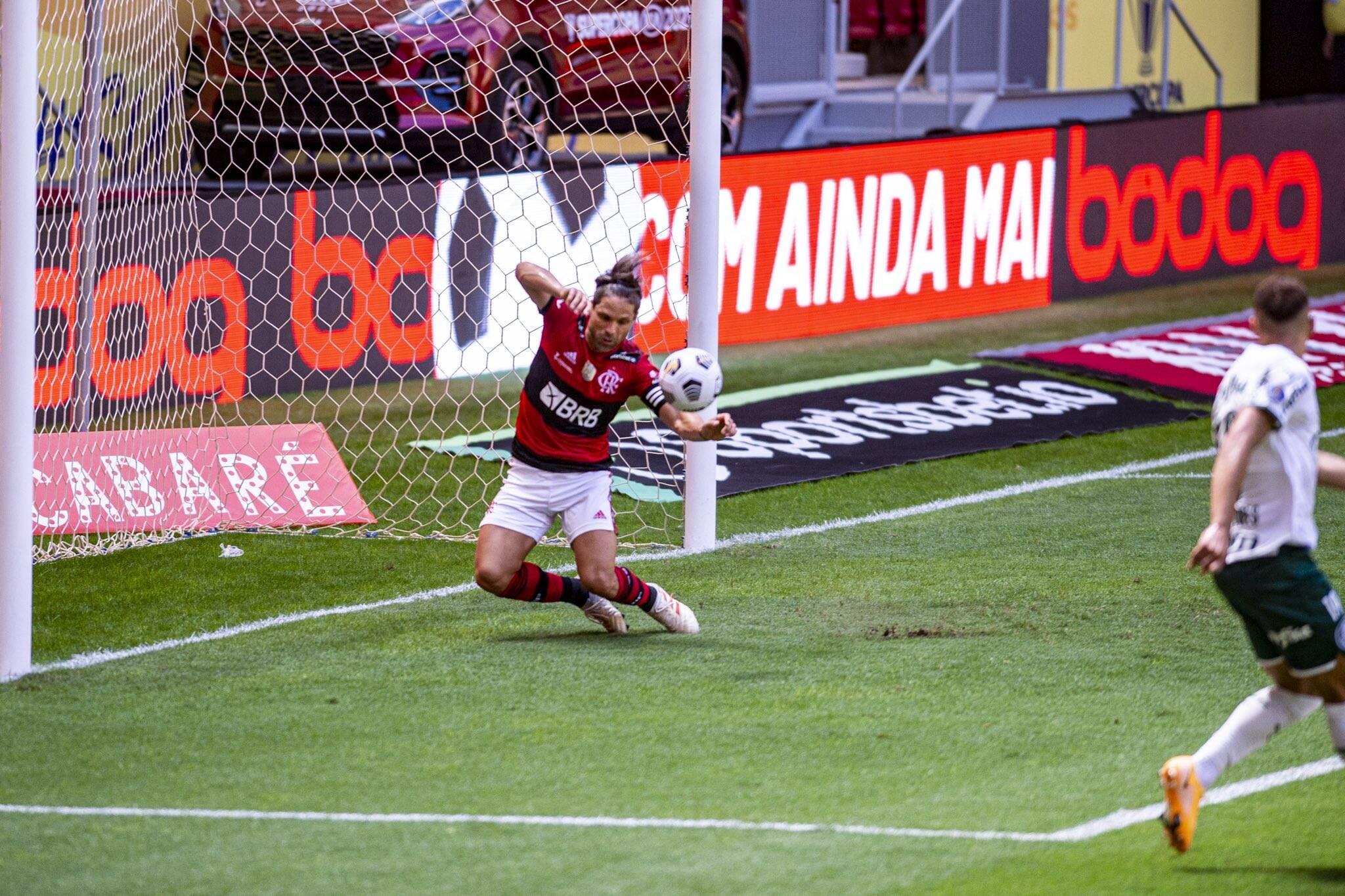 Final da Supercopa. Foto: Reprodução/Flamengo e Palmeiras