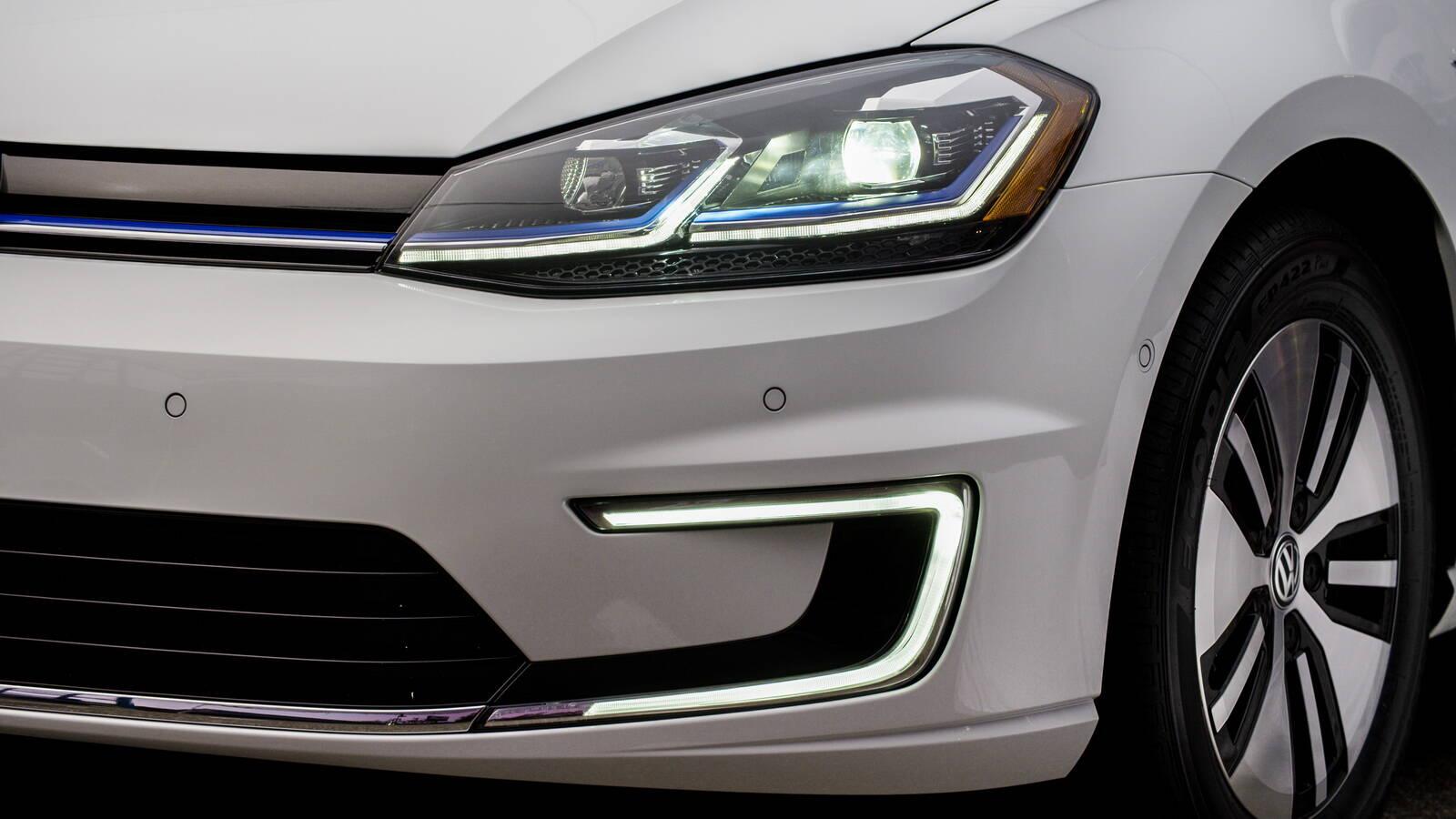VW Golf elétrico. Foto: Divulgação