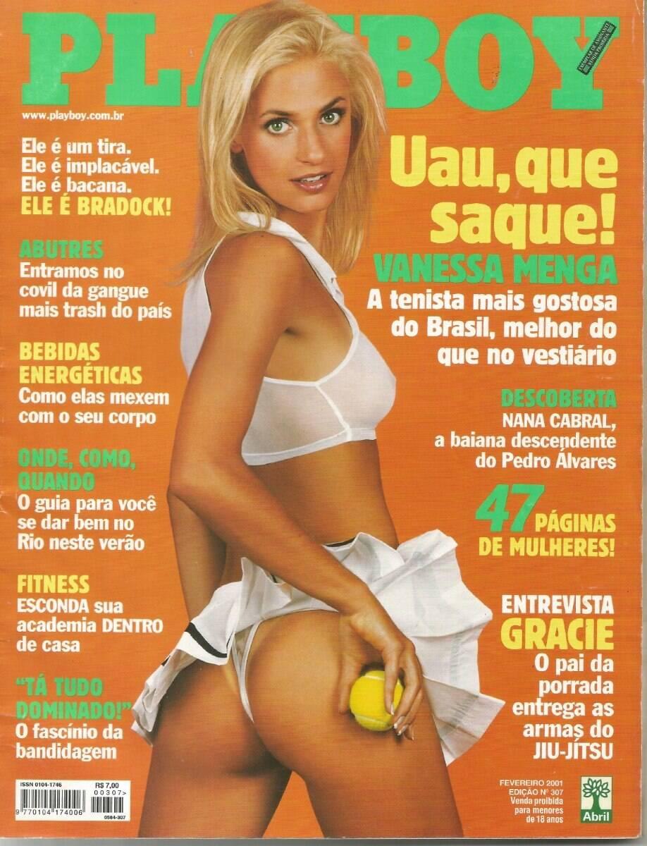 Capa da Playboy - Vanessa Menga, brasileira jogadora de tênis. Foto: Divulgação / Revista Playboy