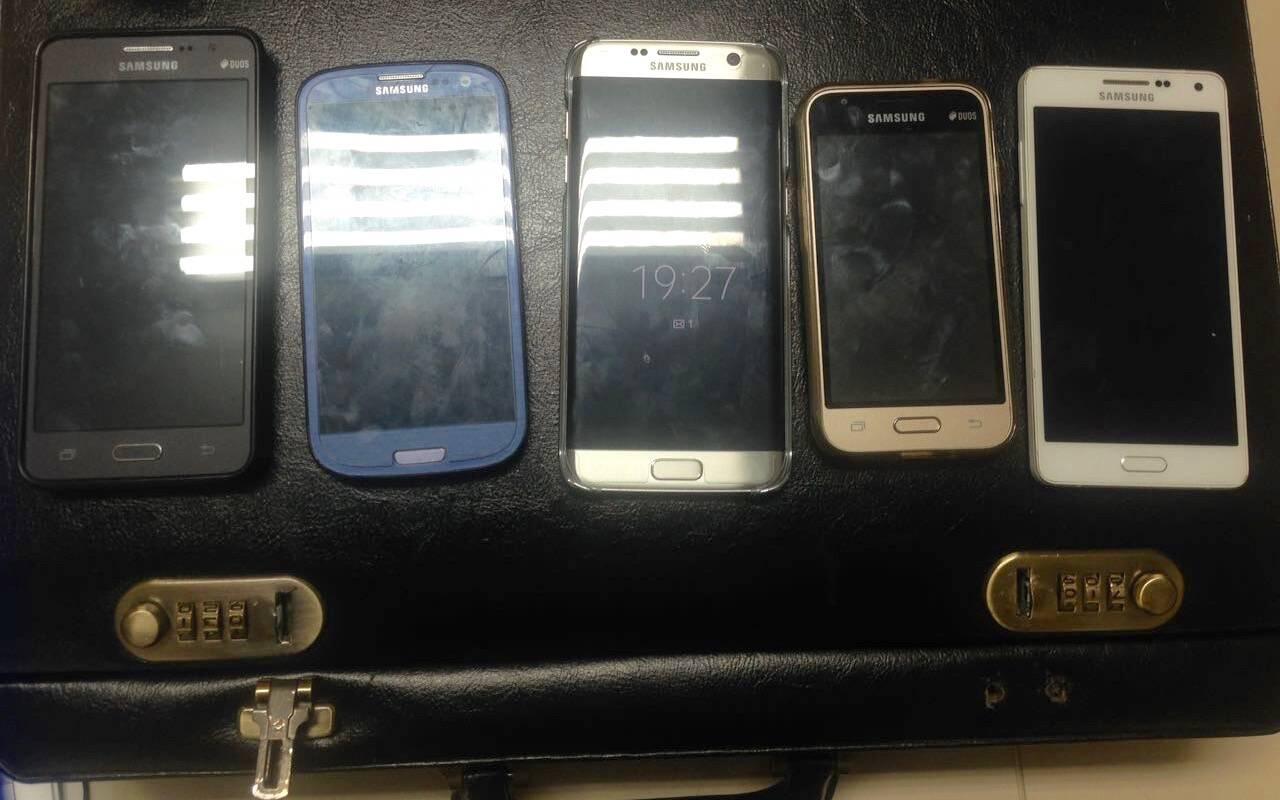 """Nos celulares apreendidos, os estelionatários paranaenses criaram um grupo no Whatsapp chamado de """"tropa de elite"""". Em São Paulo encontraram a verdadeira Tropa de Elite: a ROTA. Foto: PM Divulgação"""