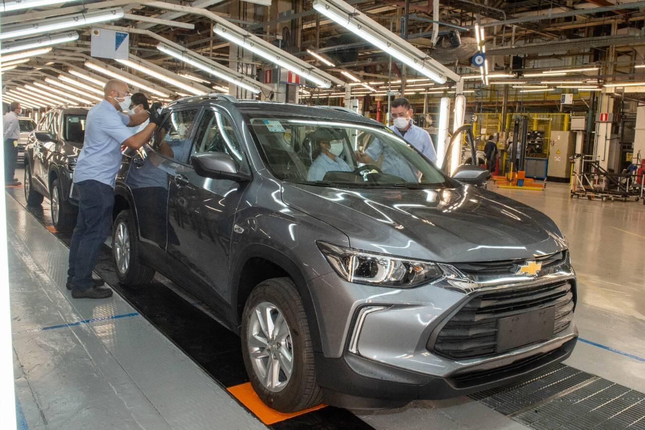 Nova geração do Chevrolet Tracker é um dos modelos montados na fábrica de São Caetano do Sul (SP). Foto: Divulgação