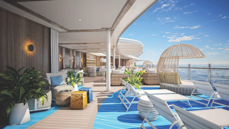 Deck solar, uma das áreas do Suite Class Neighborhood. Foto: Divulgação/Royal Caribbean International