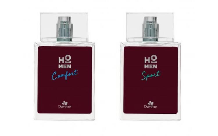 Linha HO MEN Perfumes Sport e Comfort, de Davene (R$139,90 cada). Foto: Divulgação
