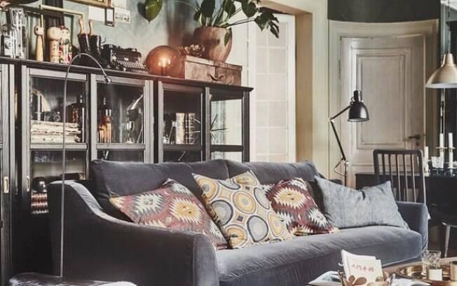 Para a decoração de interiores de 2019, apostar em muitos objetos no ambiente não será uma escolha errada . Foto: Divulgação/Ikea