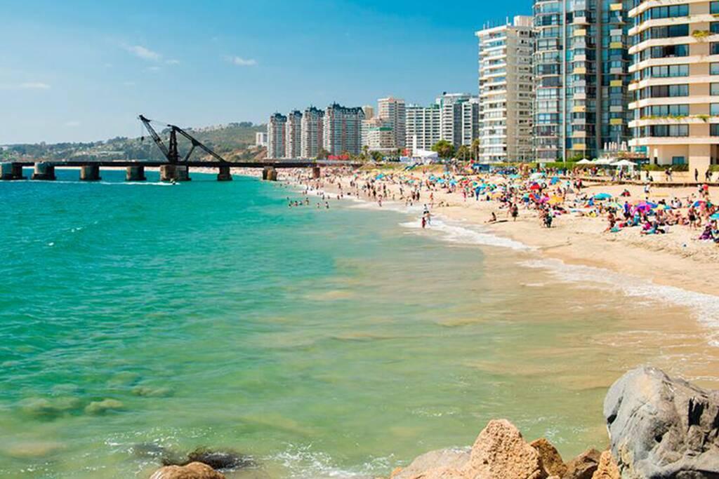 Praia de Viña del Mar. Foto: Reprodução. Foto: Reprodução