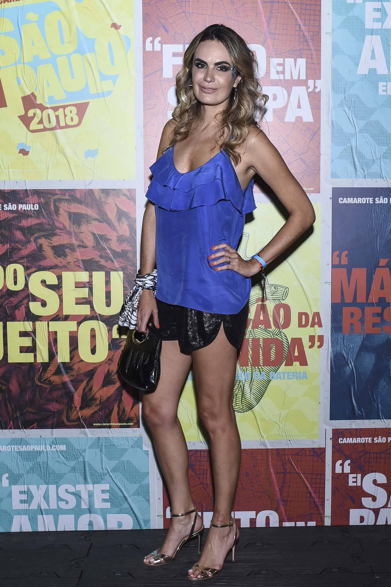 Cecília Padilha no Camarote São Paulo na última sexta (09). Foto: Lu Prezia
