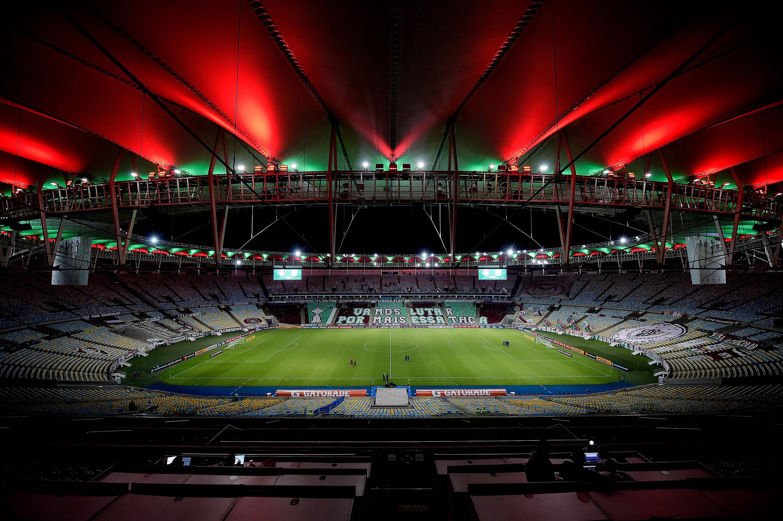 Fluminense x Santa Fe. Foto: Reprodução / Twitter Conmebol