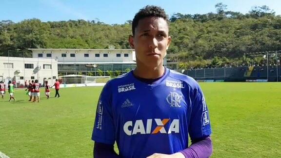 Christian Esmério, jovem goleiro do Flamengo que morreu no incêndio. Foto: Twitter/Reprodução