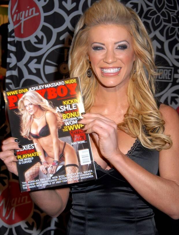 Lutadora Ashley Massaro foi capa da Playboy. Foto: Playboy/Divulgação