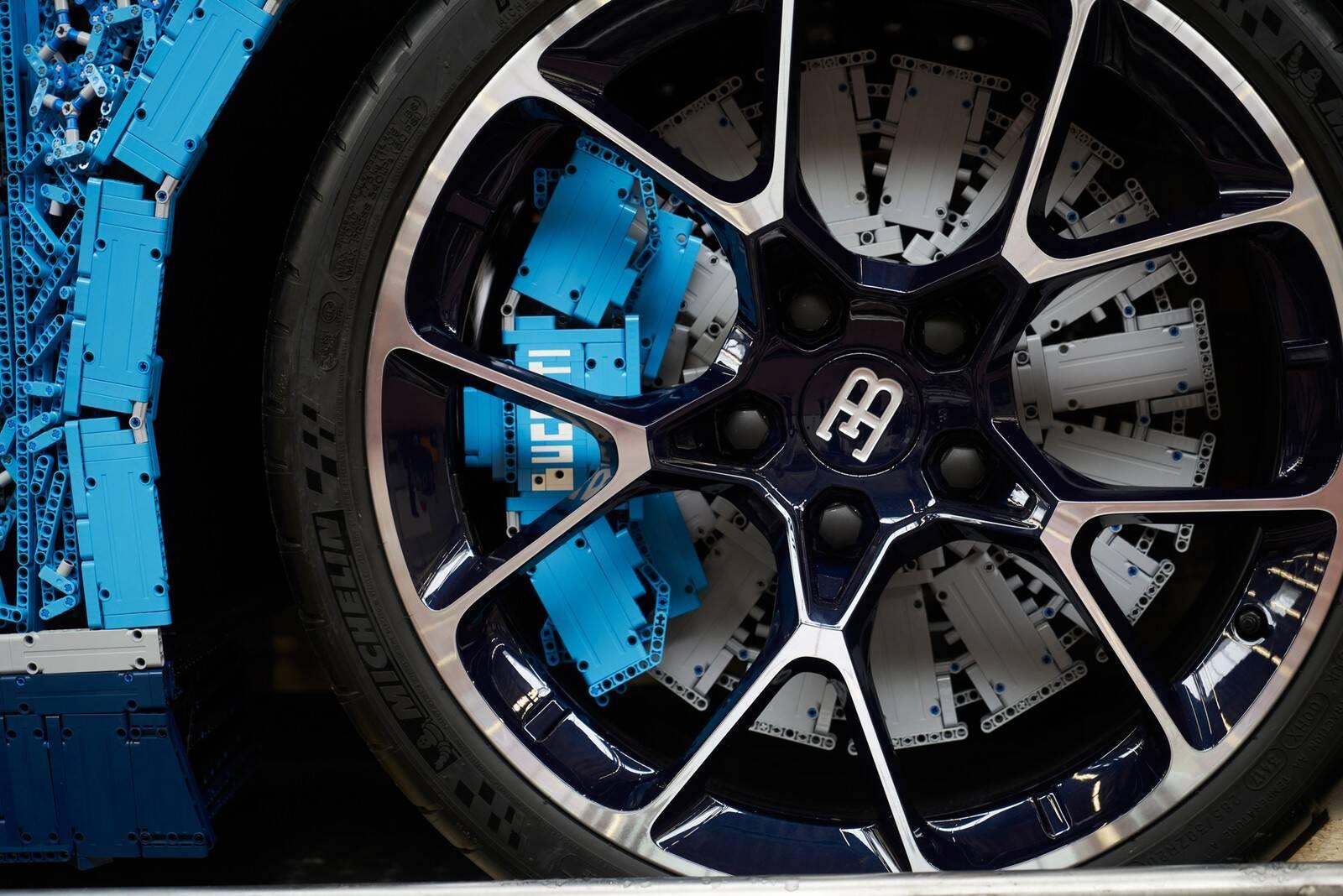 Bugatti Chiron de Lego. Foto: Divulgação