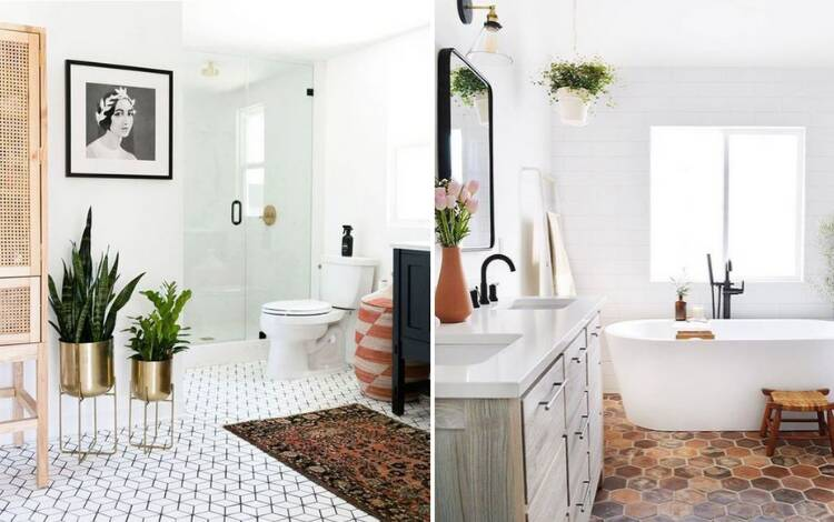 Banheiros ao estilo espanhol: Os banheiros espanhóis estão fervendo: desde arcos distintos até blocos decorativos . Foto: Reprodução/Pinterest