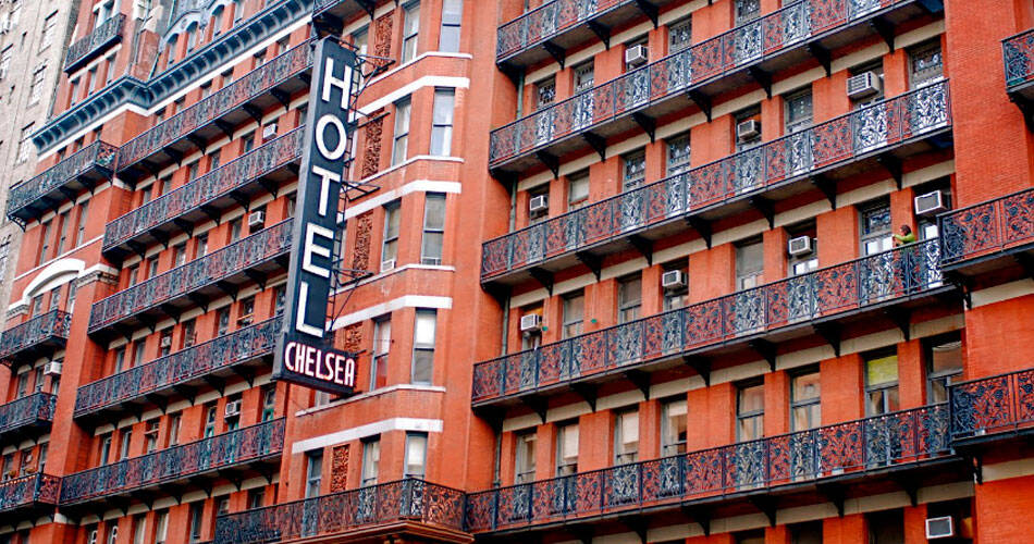 Chelsea Hotel, em Nova York. Foto: Reprodução