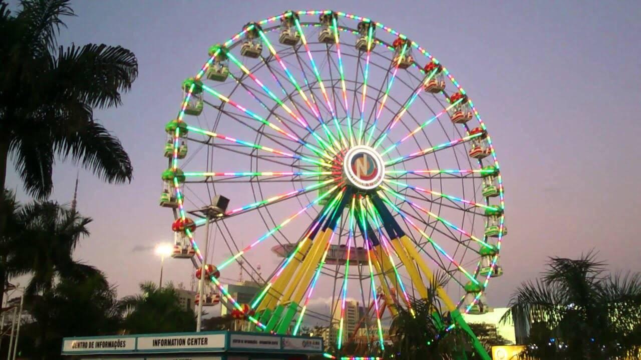 Roda Gigante é atração procurada para ver o pôr-do-sol de cima. Foto: Reprodução/Youtube