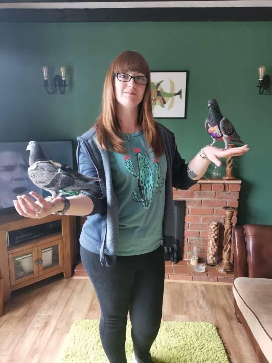 Meggy espera que as pessoas comecem a pensar de forma diferente sobre os pombos. Foto: Kennedy News and Media