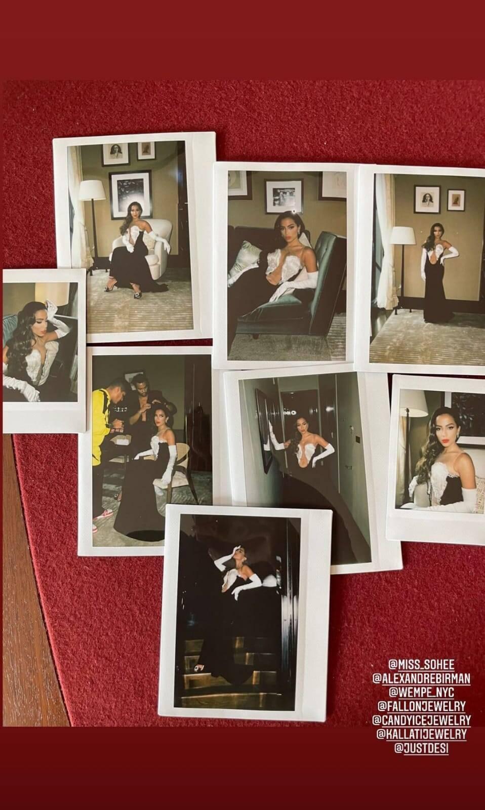 Anitta mostrou vestido que usará no MTV VMA 2021 em seu Instagram. Foto: Reprodução/Instagram