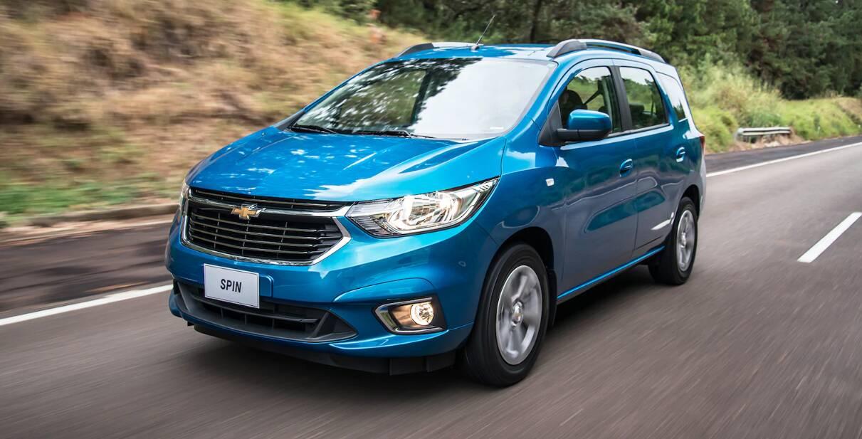Chevrolet Spin 2019. Foto: Divulgação