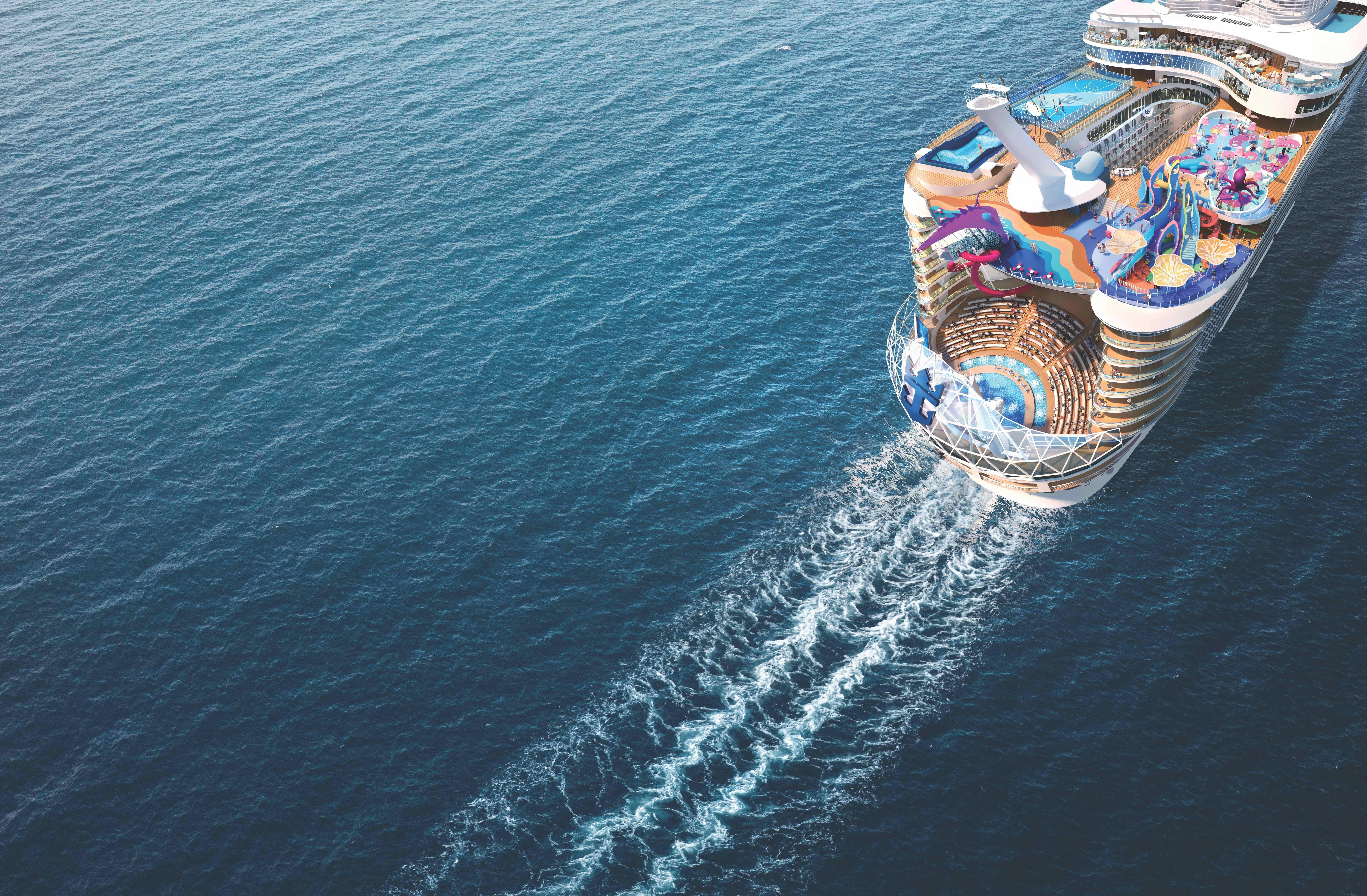 Luxuoso navio oferece novidades para clientes que possuem pacote premium da Royal Caribbean. Foto: Divulgação/Royal Caribbean International