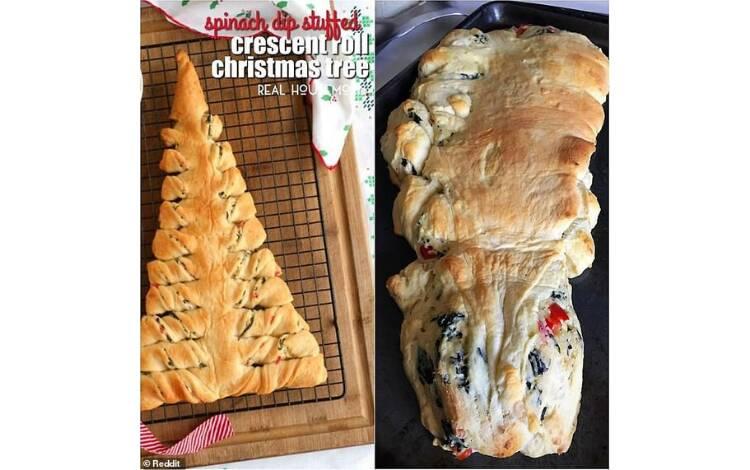 E nem todas as comidas da ceia saíram como o planejado... . Foto: Reprodução/Instagram/Reddit