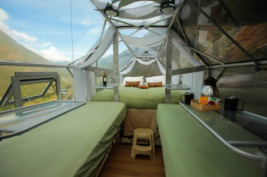 Cada cúpula possui quatro camas. Foto: Divulgação/Natura Vive