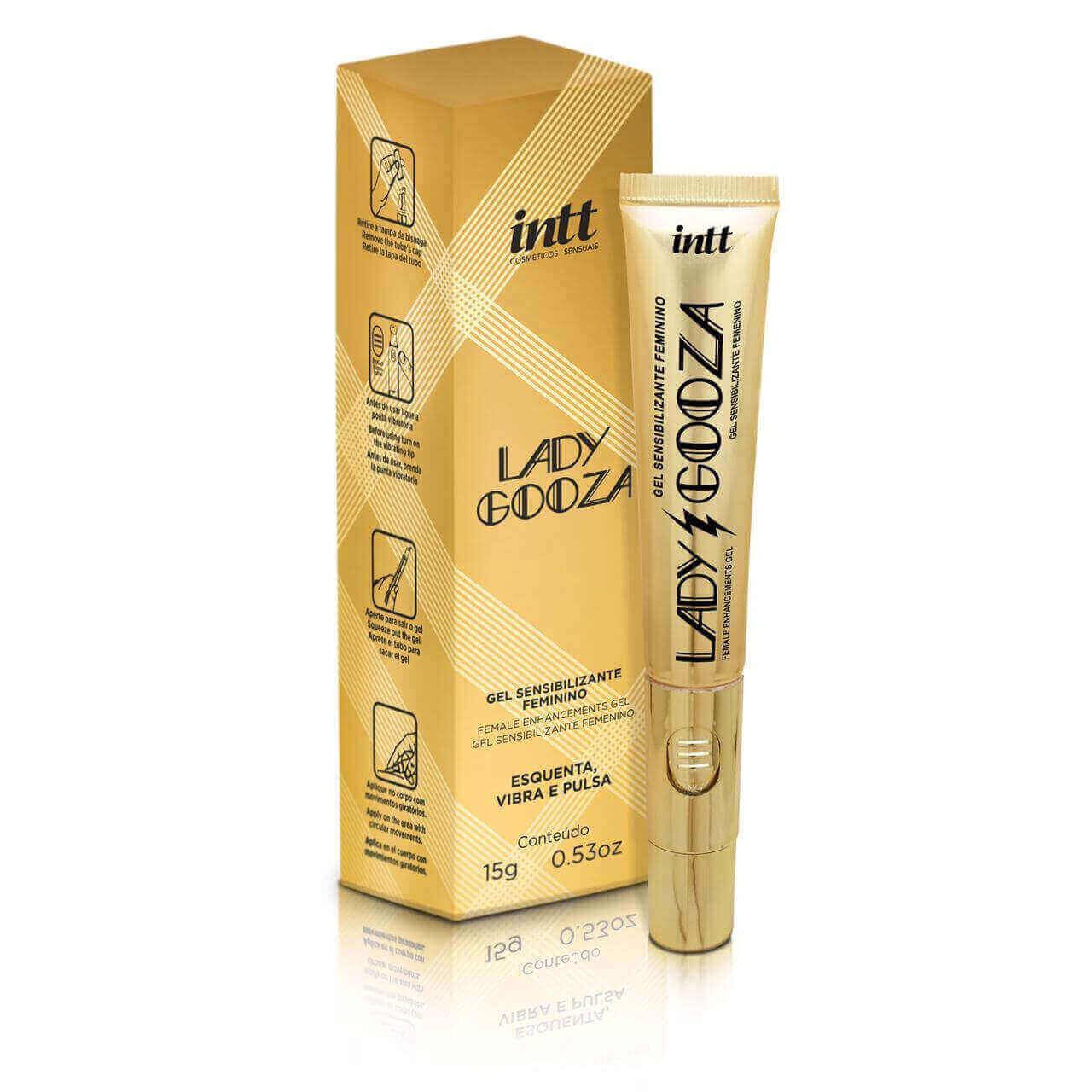 Intt Lady Gooza - gel excitante com sabor tutti frutti e 7 funções R$ 99,90. Foto: Exclusiva Sex