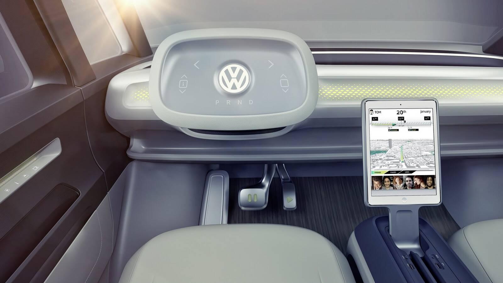 Volkswagen I. D. Buzz Concept. Foto: Divulgação