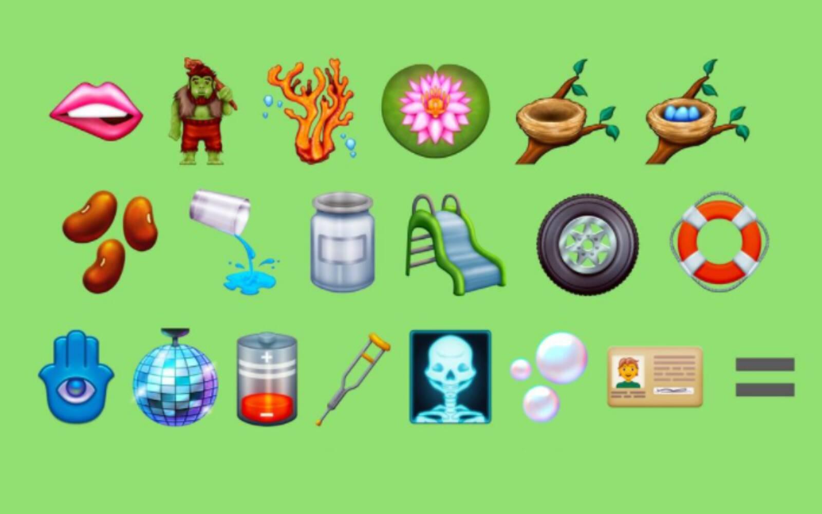 Novos emojis. Foto: Divulgação/Emojipedia