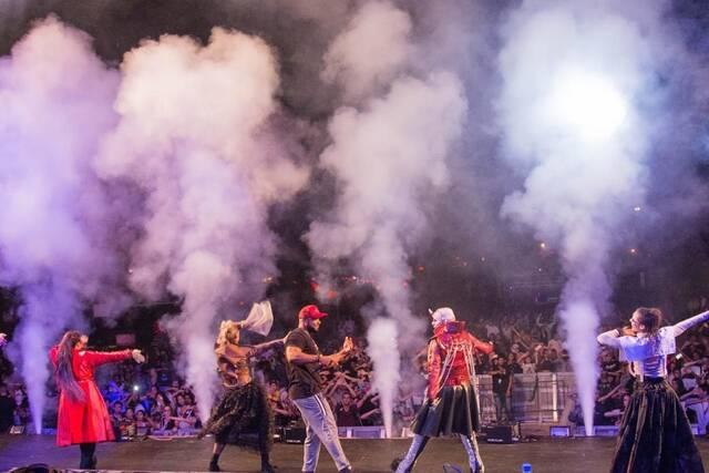 Espetáculo no lançamento do evento Hora do Horror. Foto: Hopi Hari/ Divulgação