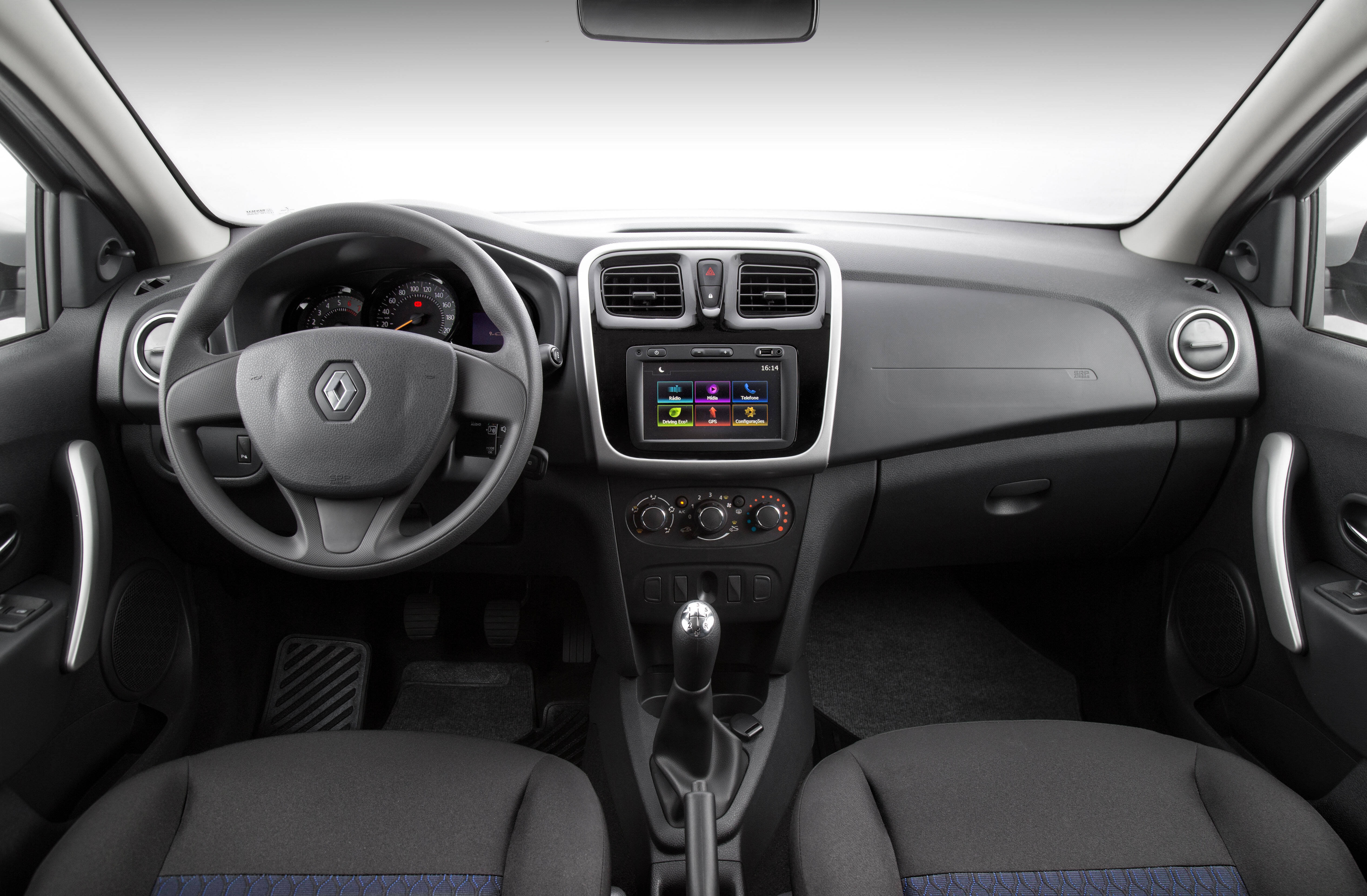Renault Sandero 1.0. Foto: Divulgação