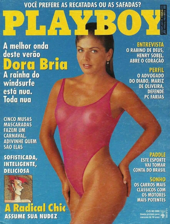 Capa da Playboy - Dora Bria, brasileira do windsurf. Foto: Divulgação / Revista Playboy