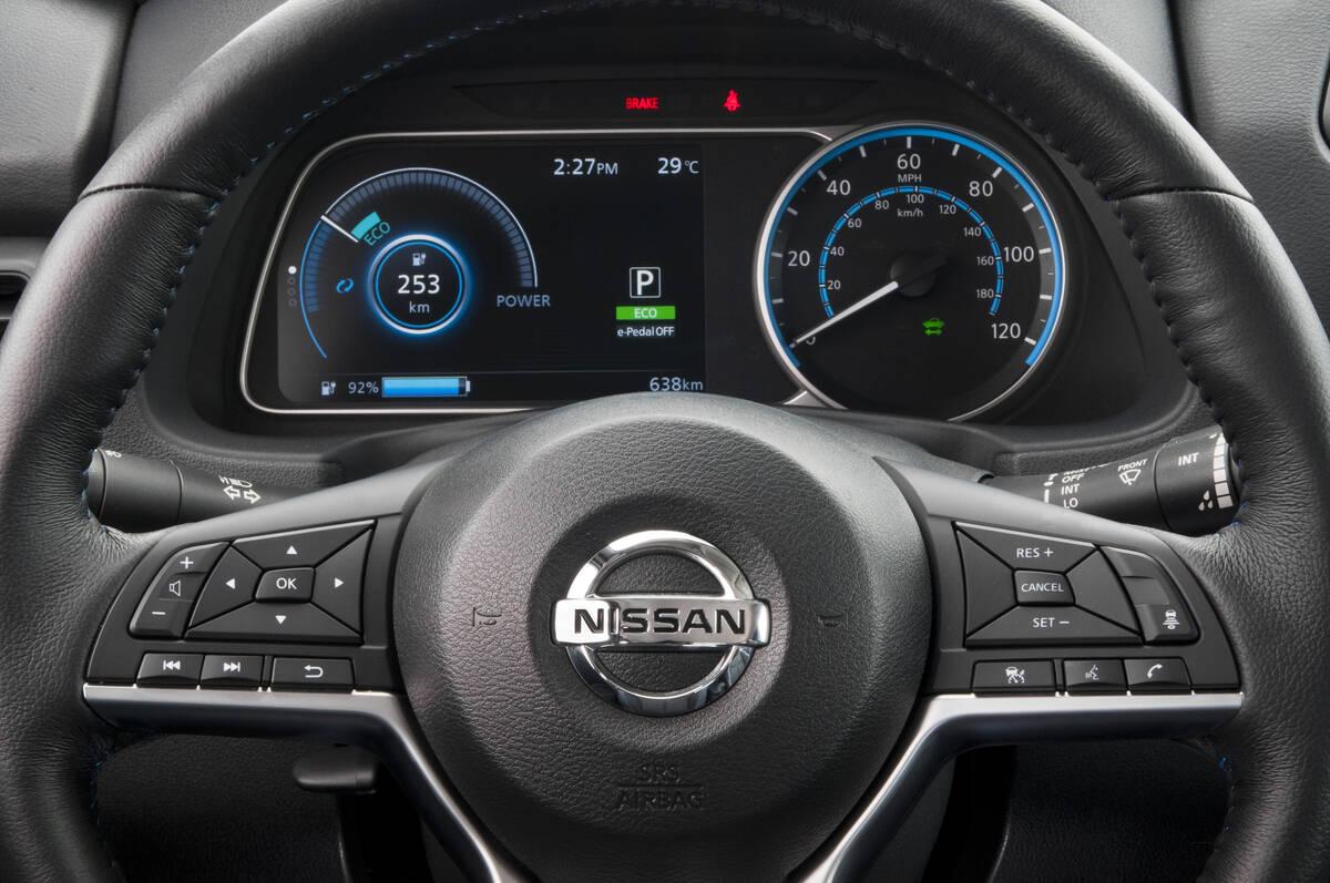 Nissan Leaf 2019. Foto: Divulgação