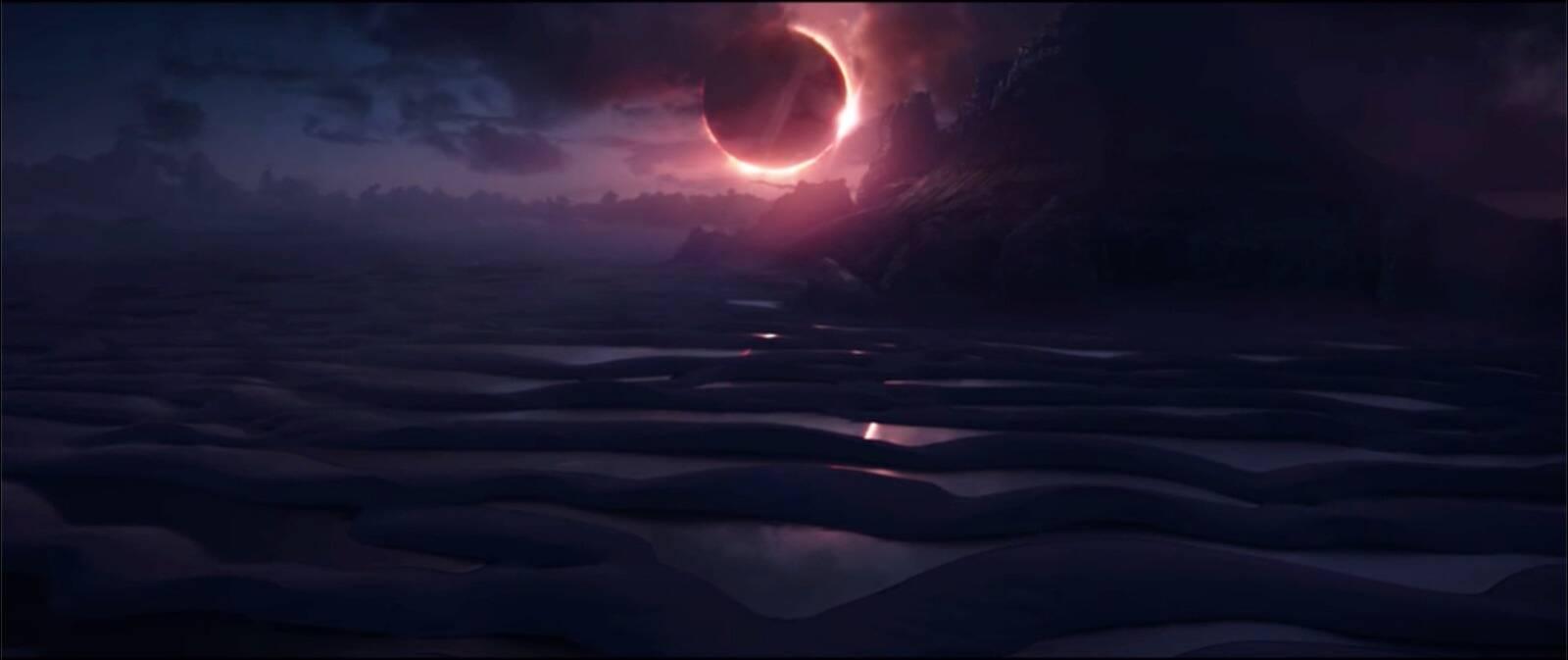 A estética do planeta Vormir foi pensada a partir dos Lençóis Maranhenses. Foto: Reprodução