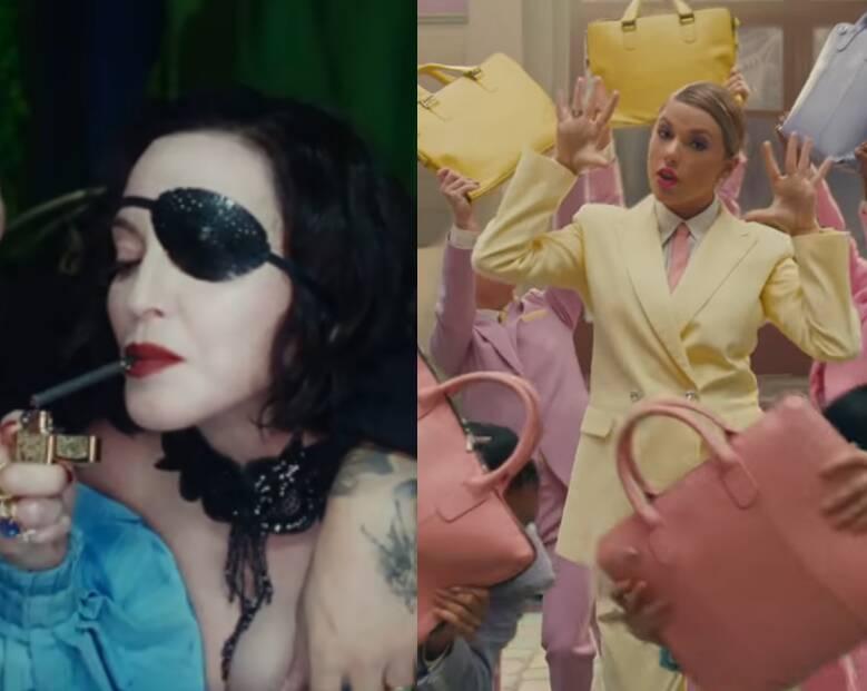 Já na sexta (26), Tanto Madonna quanto Taylor Swift lançaram seus novos clipes. A rainha do pop, ao lado de Maluma, lançou o clpe da música Medellín, já Taylor lançou o clipe da música Me. Foto: Reprodução/Youtube