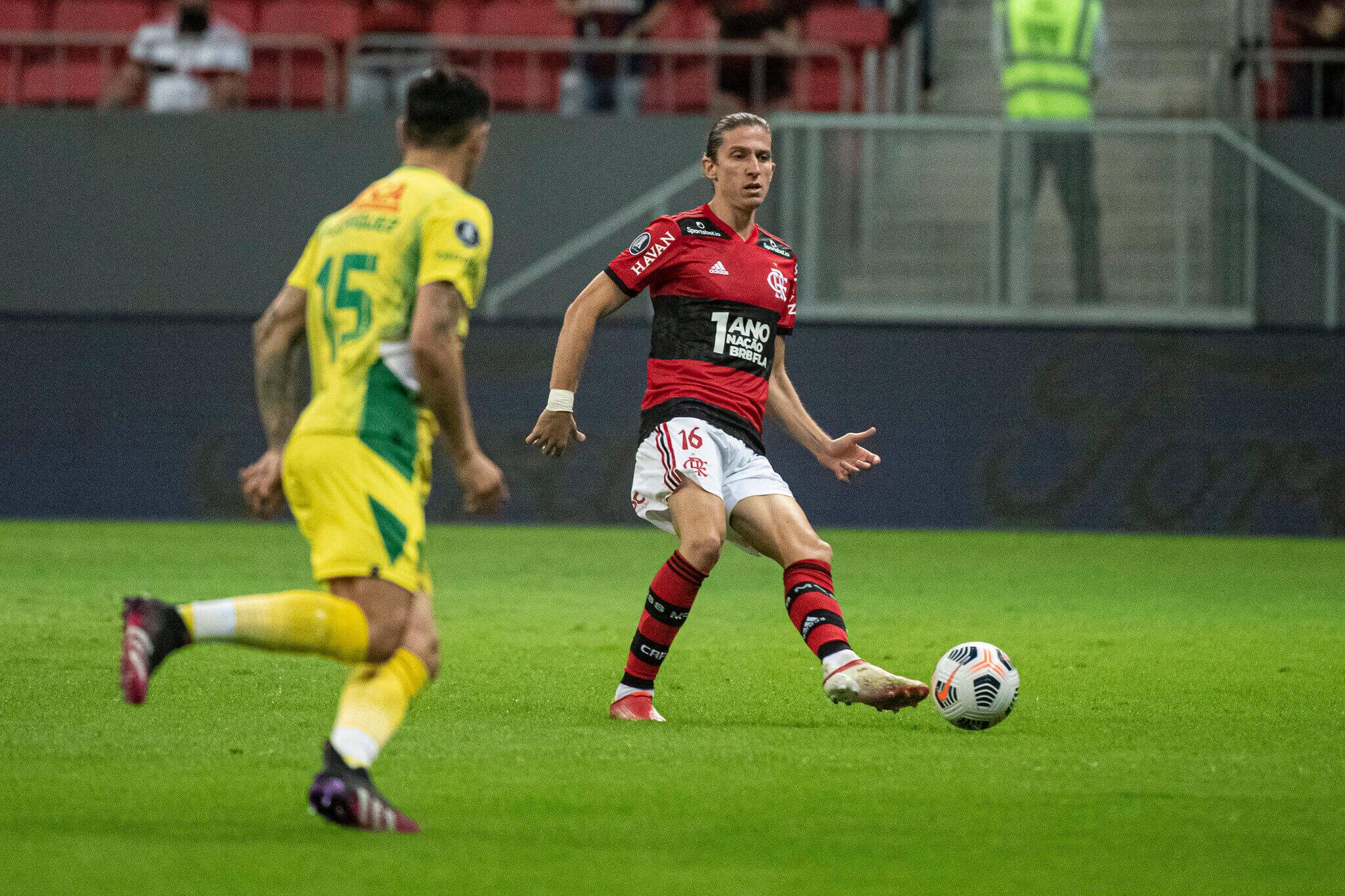 Flamengo x Defensa. Foto: Alexandre Vidal / Flamengo