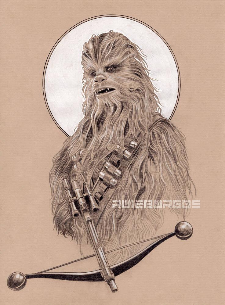 "Chewbacca, ""Star Wars"". Foto: Reprodução/Coolpopsart"