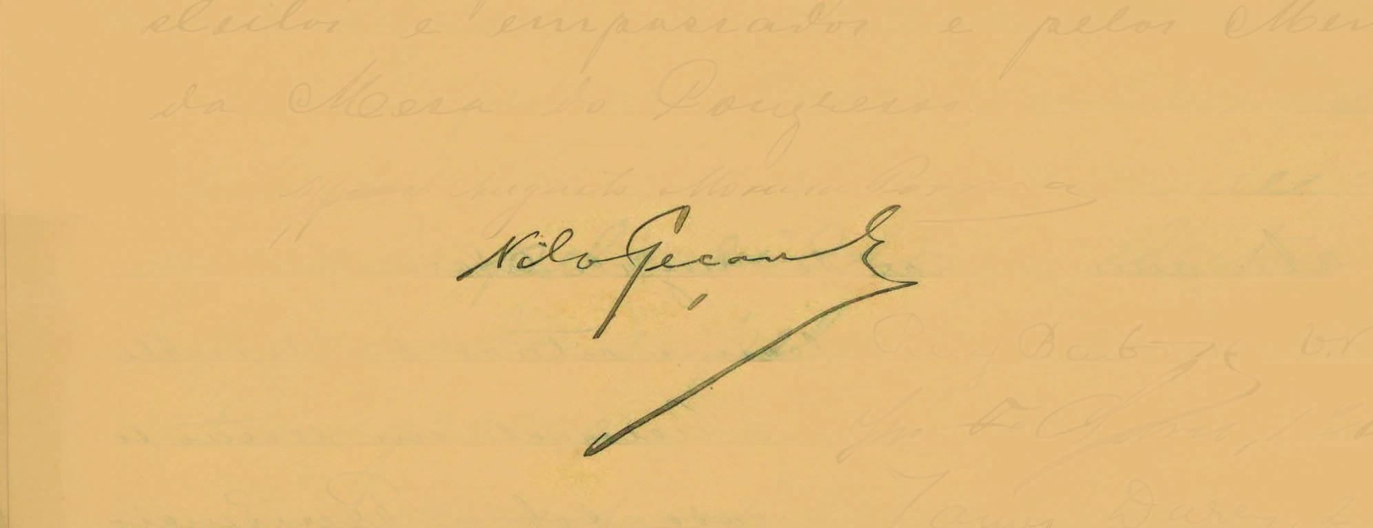 Nilo Peçanha assumiu a presidência em 1909, devido à morte de Afonso Pena. Foto: Reprodução / Senado Federal