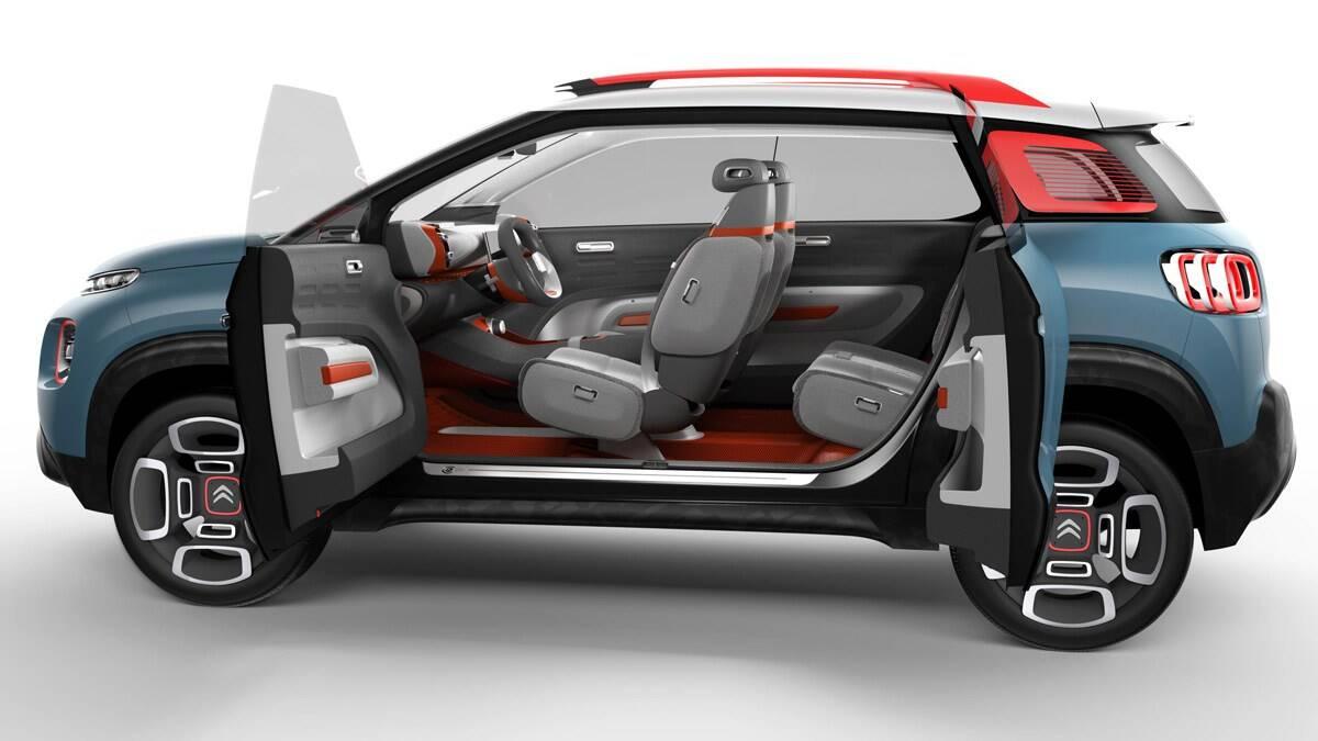 Citroën C-Aircross Concept. Foto: Divulgação